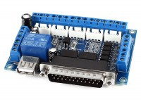Интерфейсная плата, 5 осей, 1 реле - контроллер ЧПУ станка