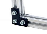Г-образный соединитель для профиля 45x45 мм, пластина, 3 отверстий