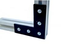 Г-образный соединитель для профиля 45x45 мм, пластина, 5 отверстий