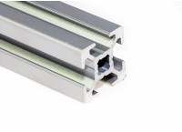 Станочный алюминиевый профиль 20x20, паз 6мм
